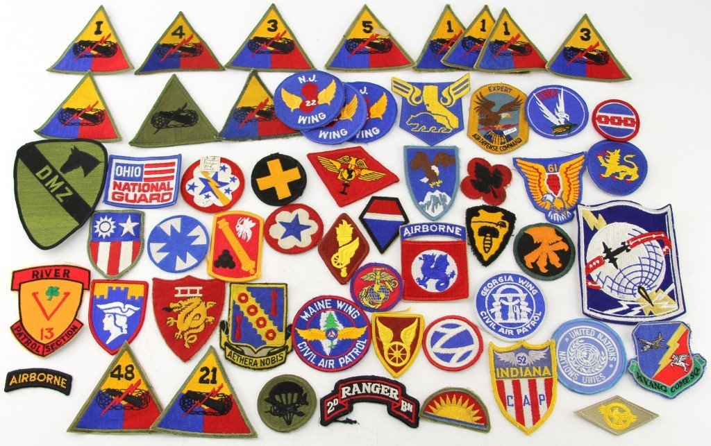 OVER 50 US MILITARY PATCHES