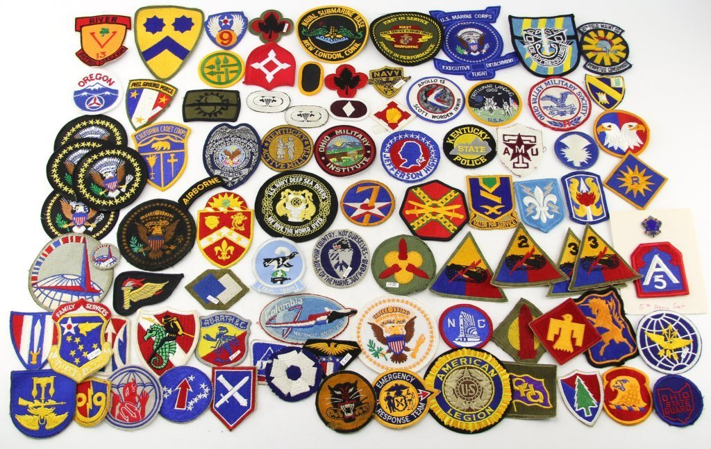 OVER 70 US MILITARY & OTHER PATCHES