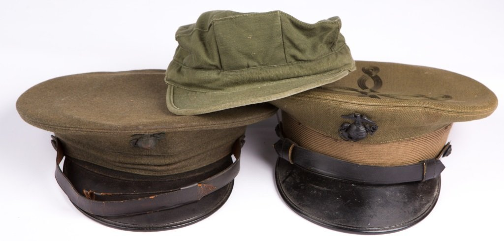 LOT OF 2 USMC AND 1 ARMY CAPS