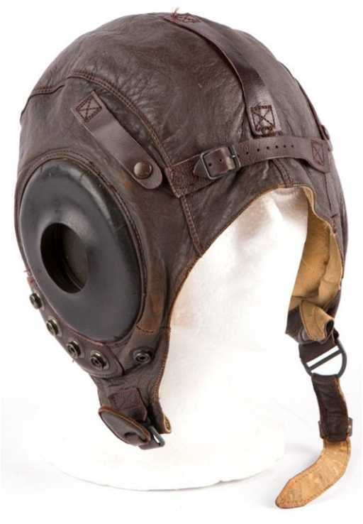 9c2aa573591 WWII USAAF TYPE A-11 LEATHER FLIGHT HELMET