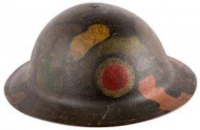 Wwi Us Painted Doughboy Brodie Helmet