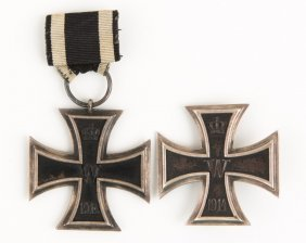 Imperial German Iron Cross Lot Of 2