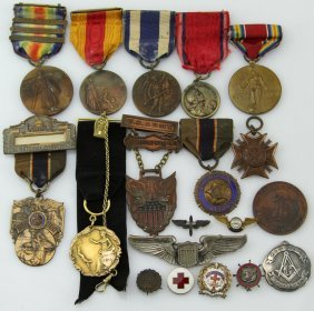 Wwi Usaaf Medal Archive Of Louis Fred Noe