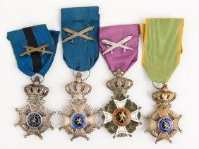 Belgium Order Of Leopold Badge Lot Of 4