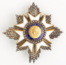 French Order Of Civic Education Breast Star Badge