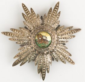 Persian Order Of The Lion And Sun Homayoun Badge