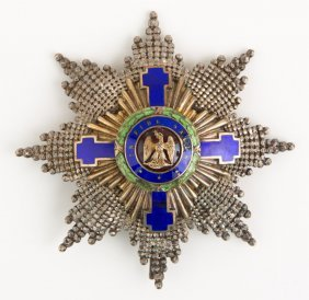 Romania Order Of The Star Breast Star Badge