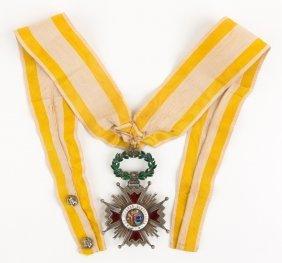 Spanish Order Of Isabella The Catholic Medal