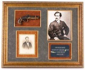 Framed Lincoln Assassination Derringer Display
