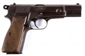 Wwii Browning High Power 9mm Pistol German Marked