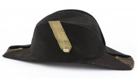 19th Century Naval Officer Bicorn Hat