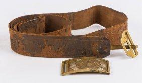 Civil War 1851 Buckle Allegheny Arsenal With Belt