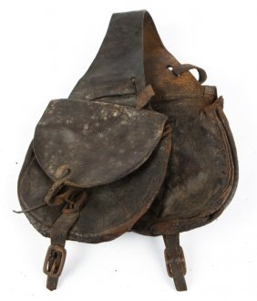Civil War Leather Cavalry Saddle Bags