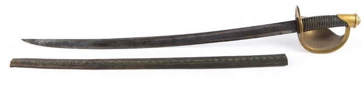 CIVIL WAR US NAVY M1860 CUTLASS BY AMES 1862