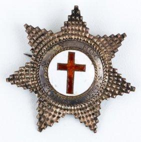 Masonic Knights Templar Silver Breast Star Badge