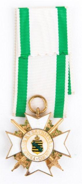 German Saxony Civil Merit Order Medal