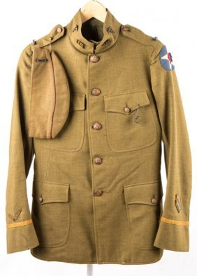 WWI US 2nd DIVISION DOCTOR UNIFORM & RING NAMED