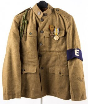 Wwi Us Army 317th Infantry Jacket & Medals