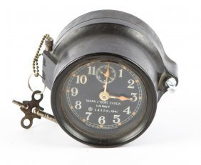 Wwii Us Navy Mark I Seth Thomas Boat Clock