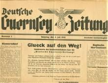 WWII GERMAN OCCUPIED BRITAIN GUERNSEY NEWSPAPER