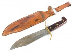 Coleman Western W49 Bowie Knife With Sheath