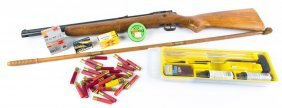 Crosman Model 140 Air Rifle 22 Cal W/ Ammo & Acces