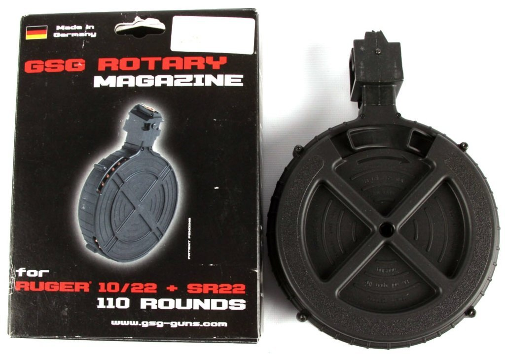 2 GSG ROTARY RUGER 10/22 MAGAZINES 110 ROUND