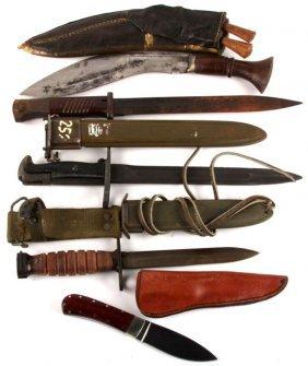 Lot Of Bayonets And Knives