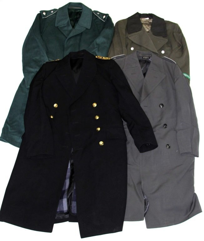 COLD WAR GERMAN TRENCH COAT LOT OF 4