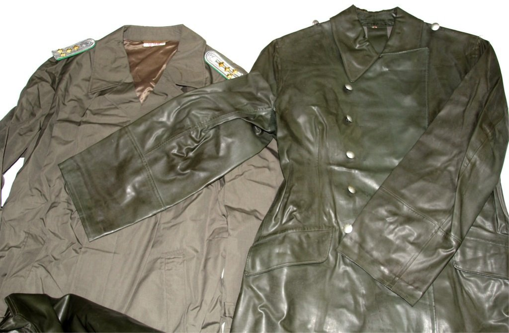 COLD WAR GERMAN TRENCH COAT LOT OF 4 - 3