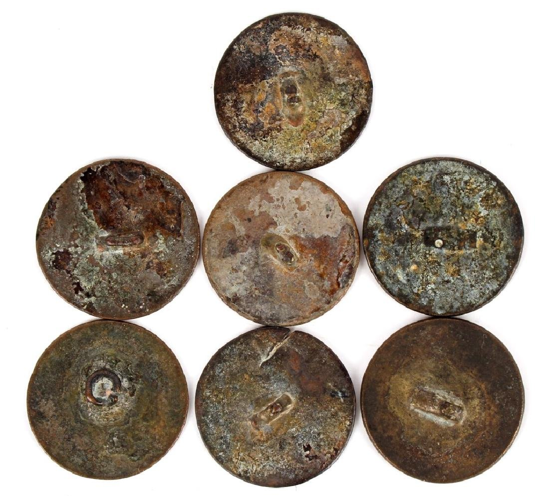 US ARTILLERY BUTTONS 1811-1821 LOT OF 7 - 2