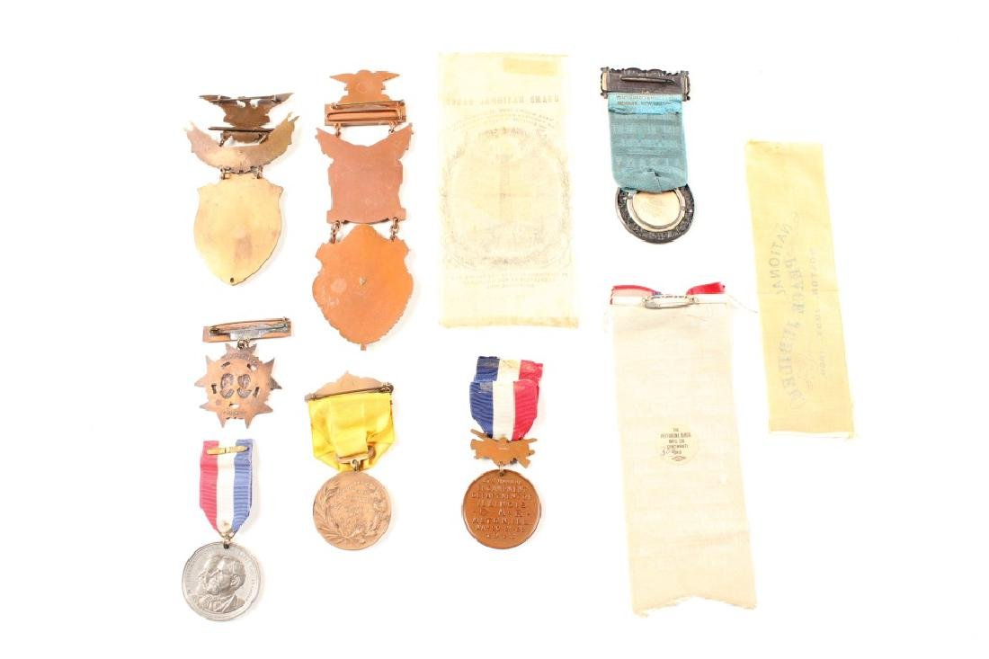 G.A.R. CIVIL WAR RIBBON AND MEDAL LOT OF 10 - 2