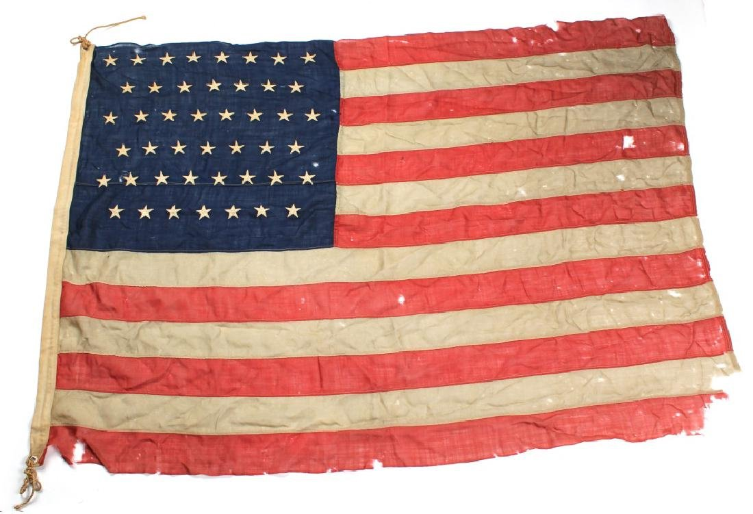 SPANISH AMERICAN WAR 45 STAR US FLAG