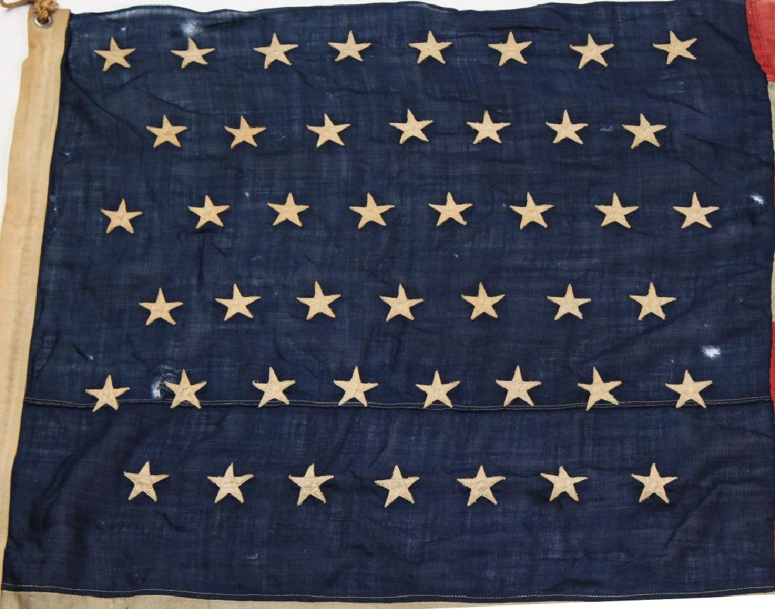 SPANISH AMERICAN WAR 45 STAR US FLAG - 6