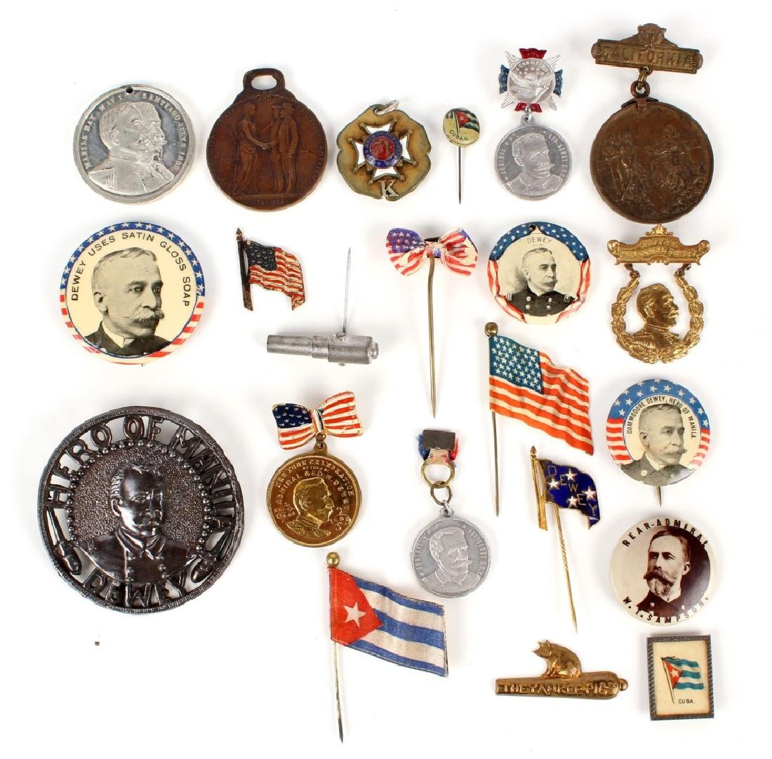 SPANISH AMERICAN WAR PIN LOT OF 22