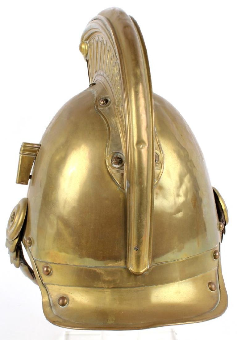 FRENCH FIREFIGHTER BRASS HELMET - 4