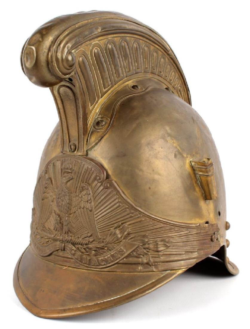 FRENCH FIREFIGHTER BRASS HELMET