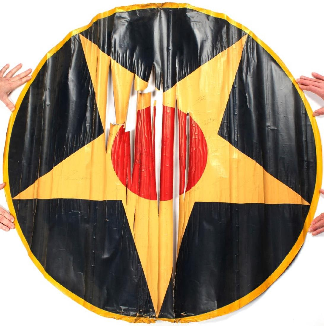 WWI US PILOT SIGNED AIRPLANE FABRIC STAR
