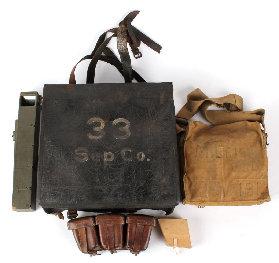 LOT OF ANTIQUE MILITARY GEAR