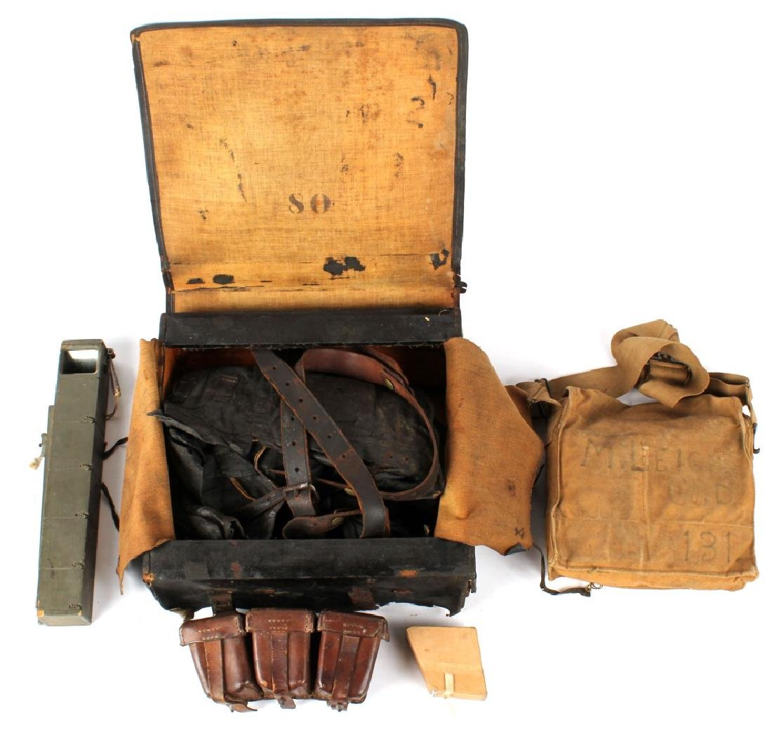 LOT OF ANTIQUE MILITARY GEAR - 2