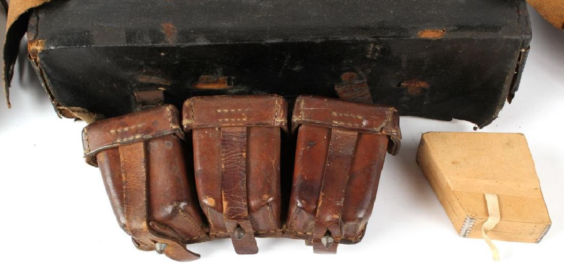 LOT OF ANTIQUE MILITARY GEAR - 3