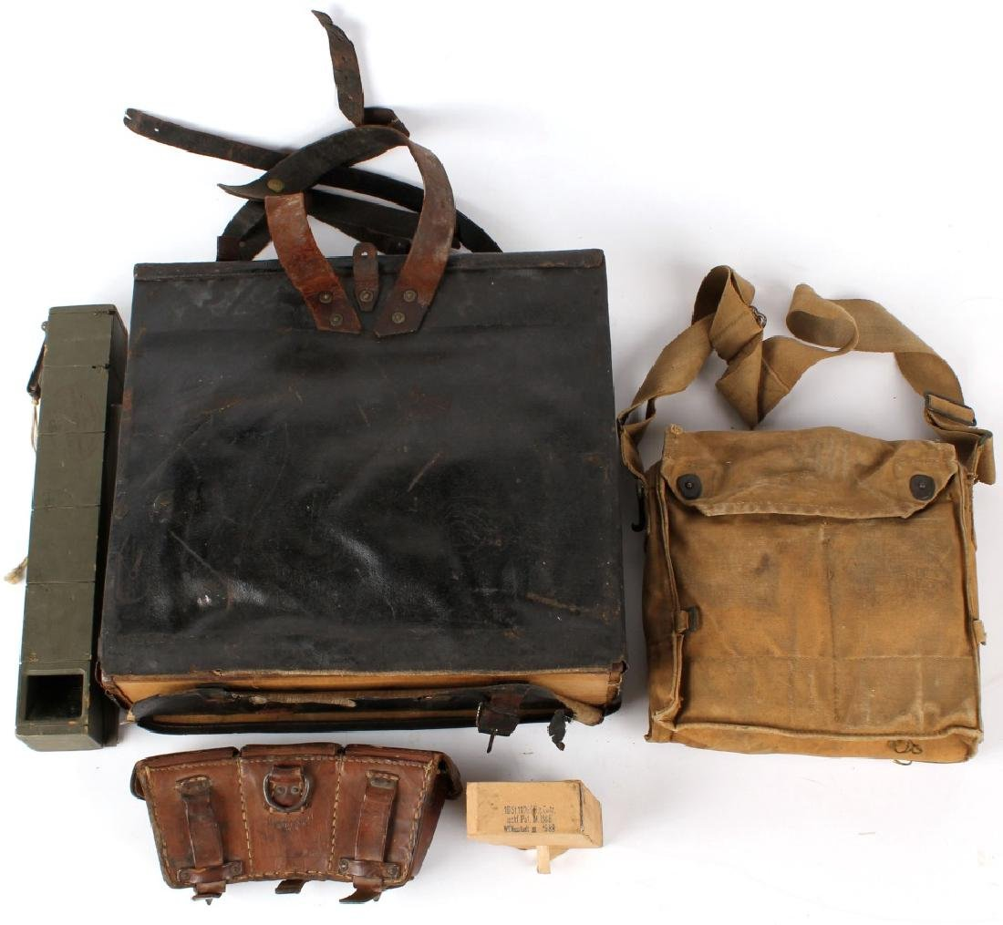 LOT OF ANTIQUE MILITARY GEAR - 5