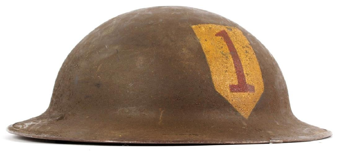 WWI US 1ST DIVISION BRODIE HELMET NAMED