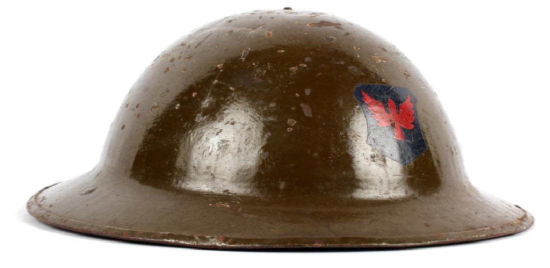 1917 ILLINOIS NATIONAL GUARD BRODIE HELMET - 2