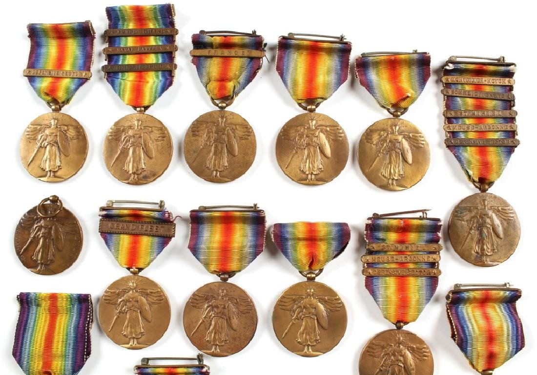 WWI US AND BRITISH VICTORY MEDAL LOT OF 14 - 2