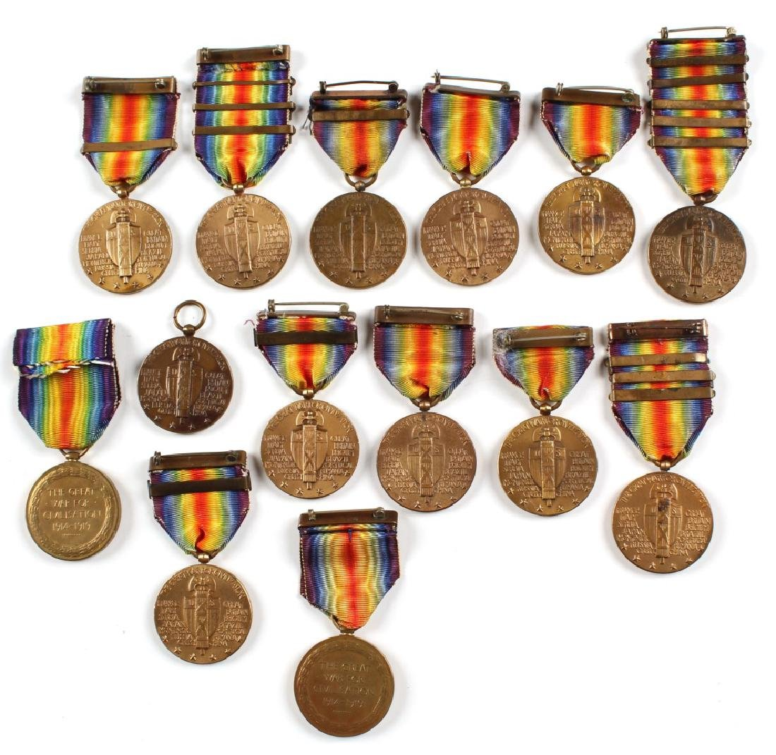 WWI US AND BRITISH VICTORY MEDAL LOT OF 14 - 4