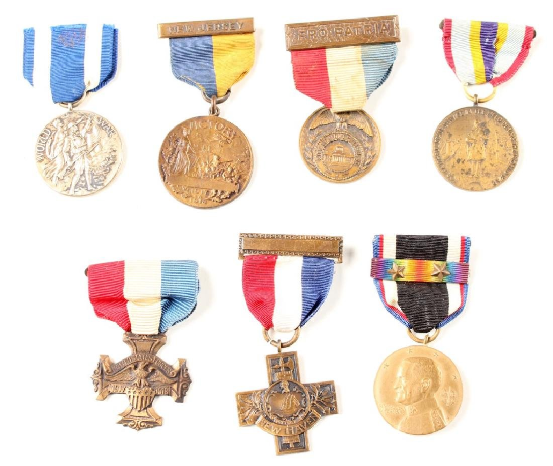 WWI US VICTORY MEDAL LOT OF 7