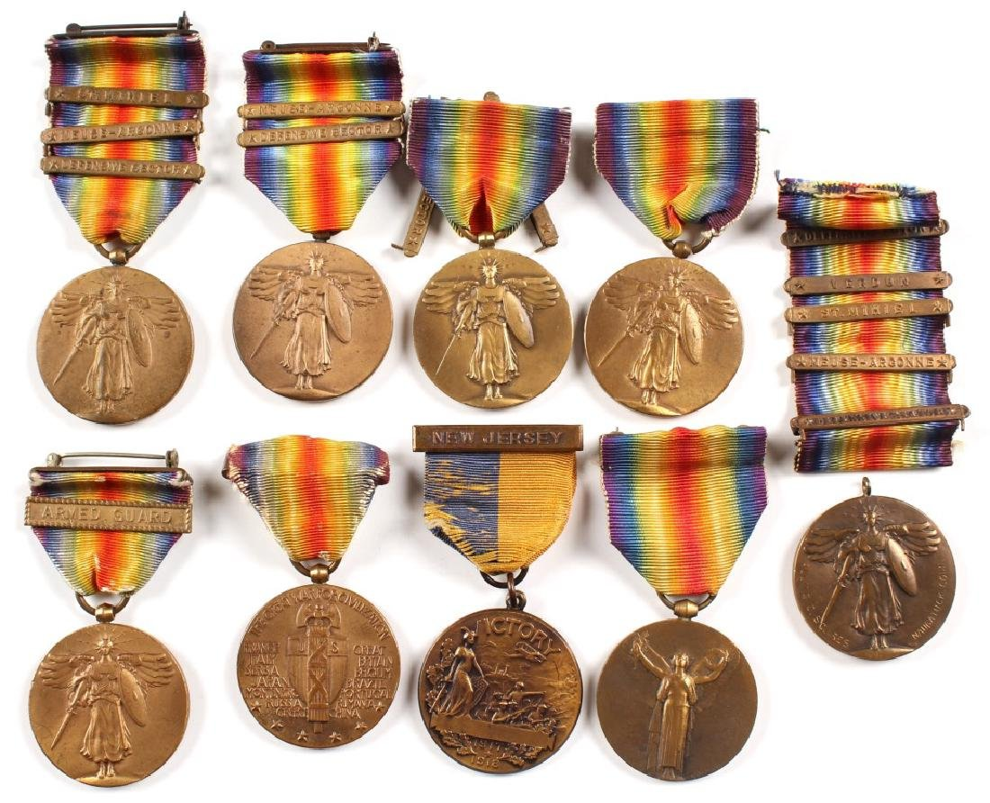 WWI MEDAL LOT OF 9