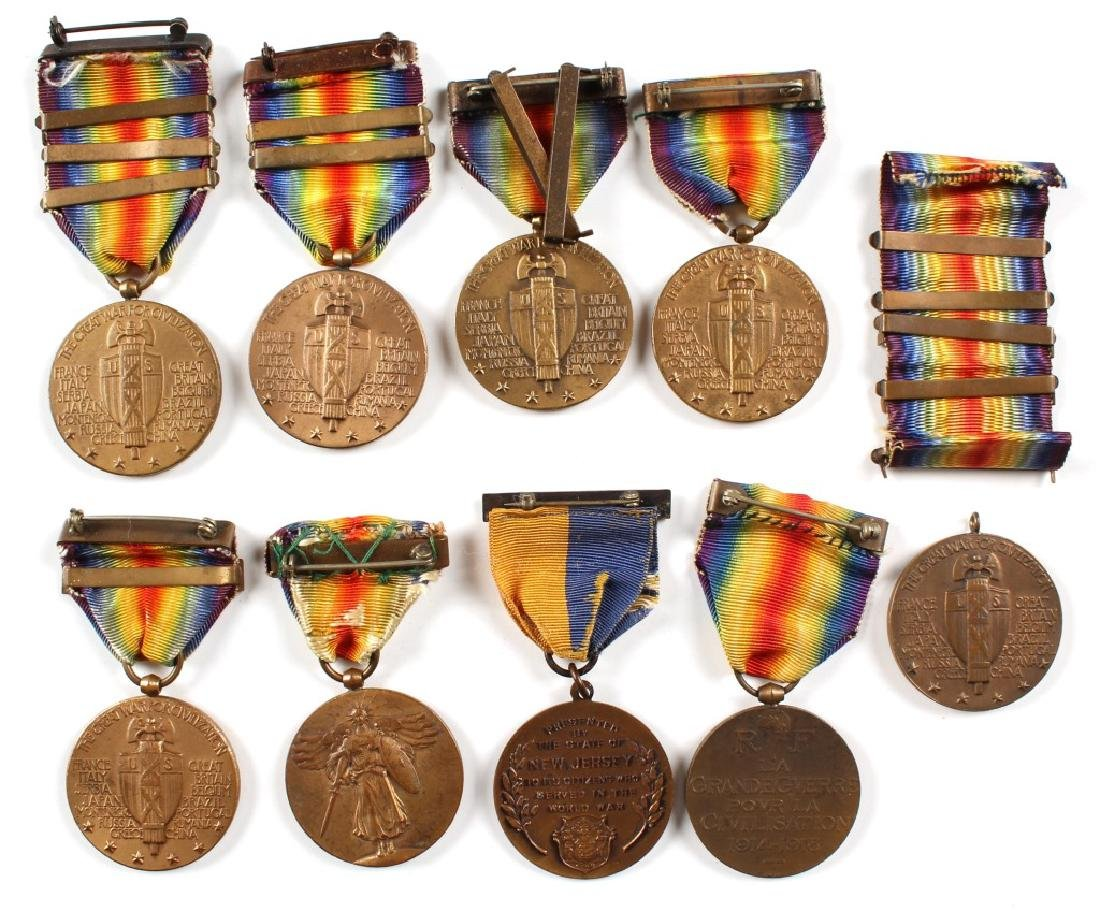 WWI MEDAL LOT OF 9 - 2