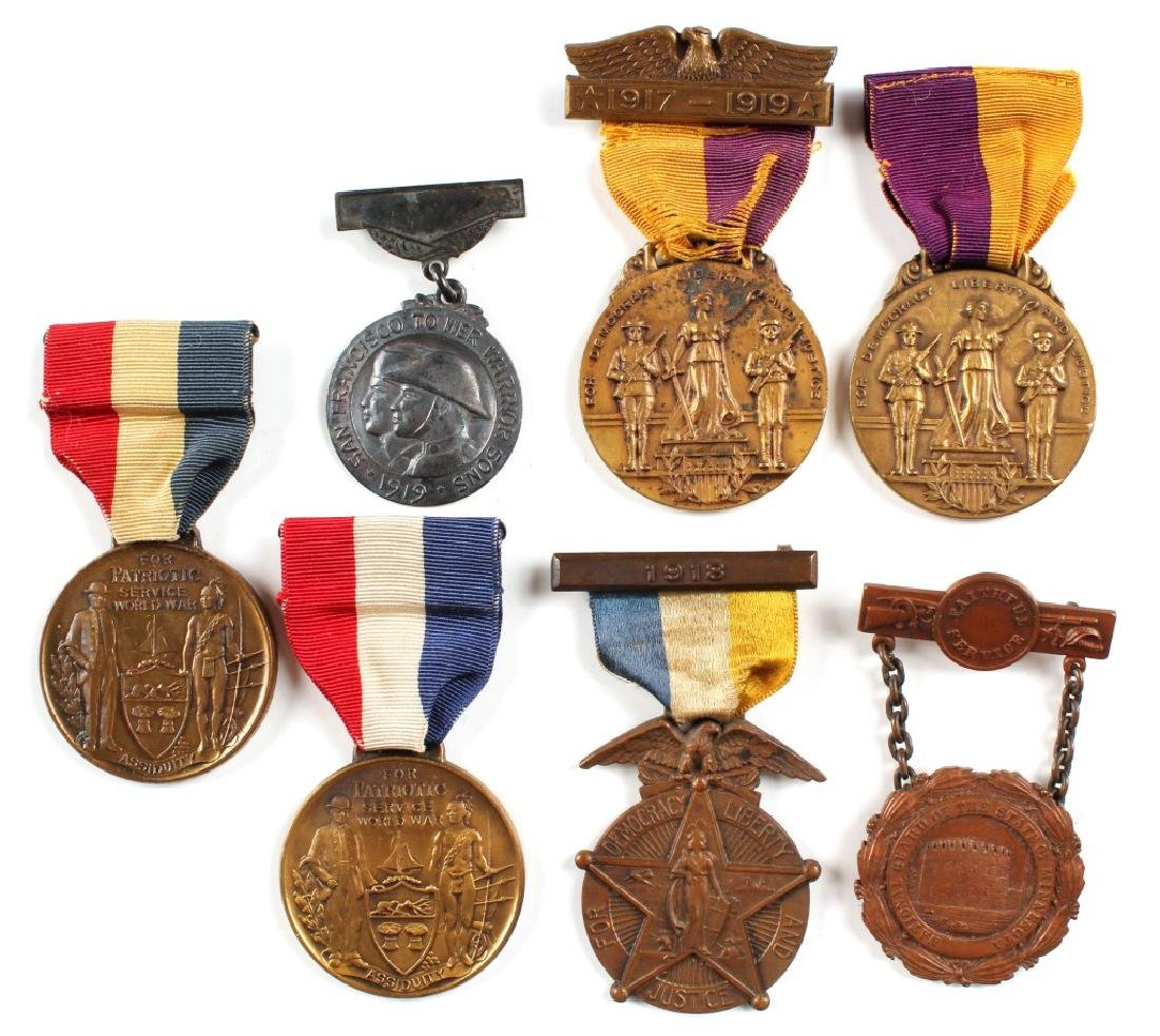 WWI MEDAL LOT OF 7